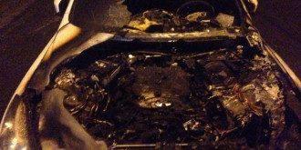 Сожженная машина Зиновьевой