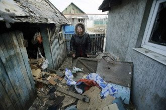 Разрушения в Донецке, иллюстрация