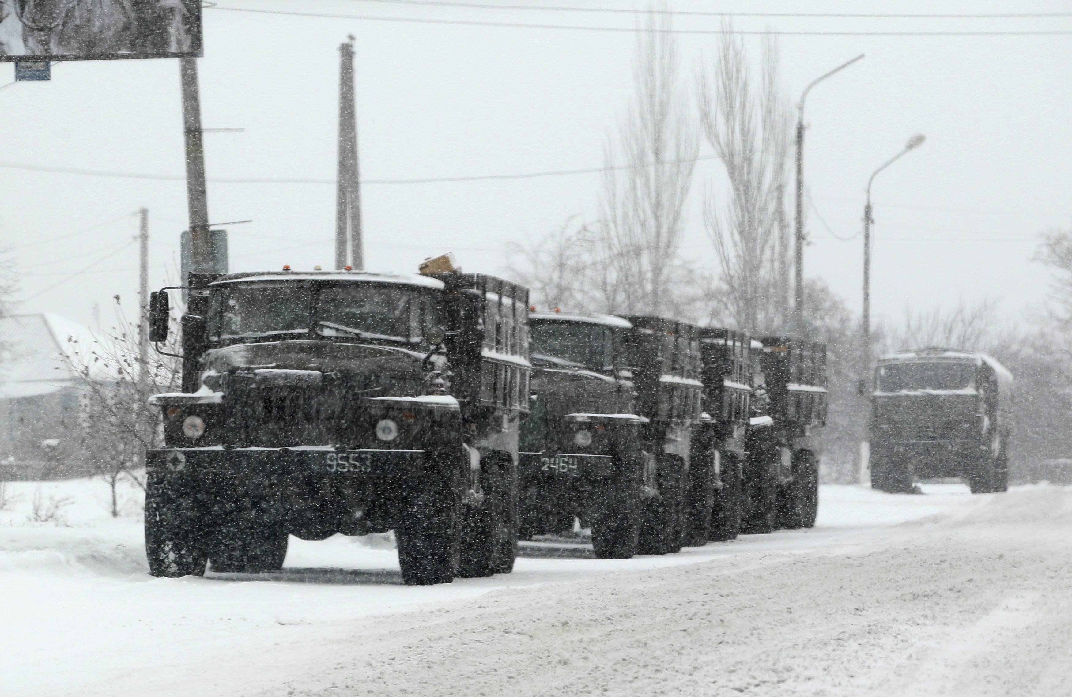 Армейские грузовики боевиков ДНР, иллюстрация