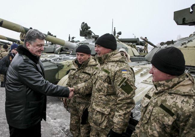 Петр Порошенко в зоне АТО, иллюстрация