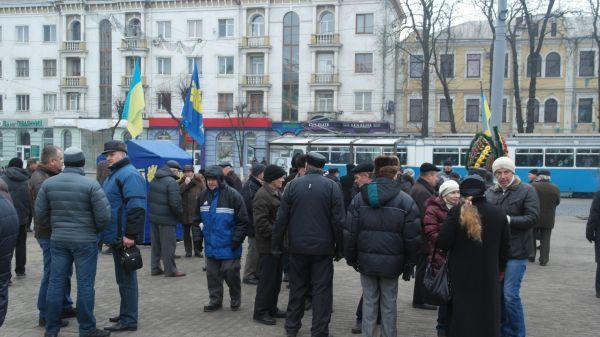 Митинг в Виннице, иллюстрация
