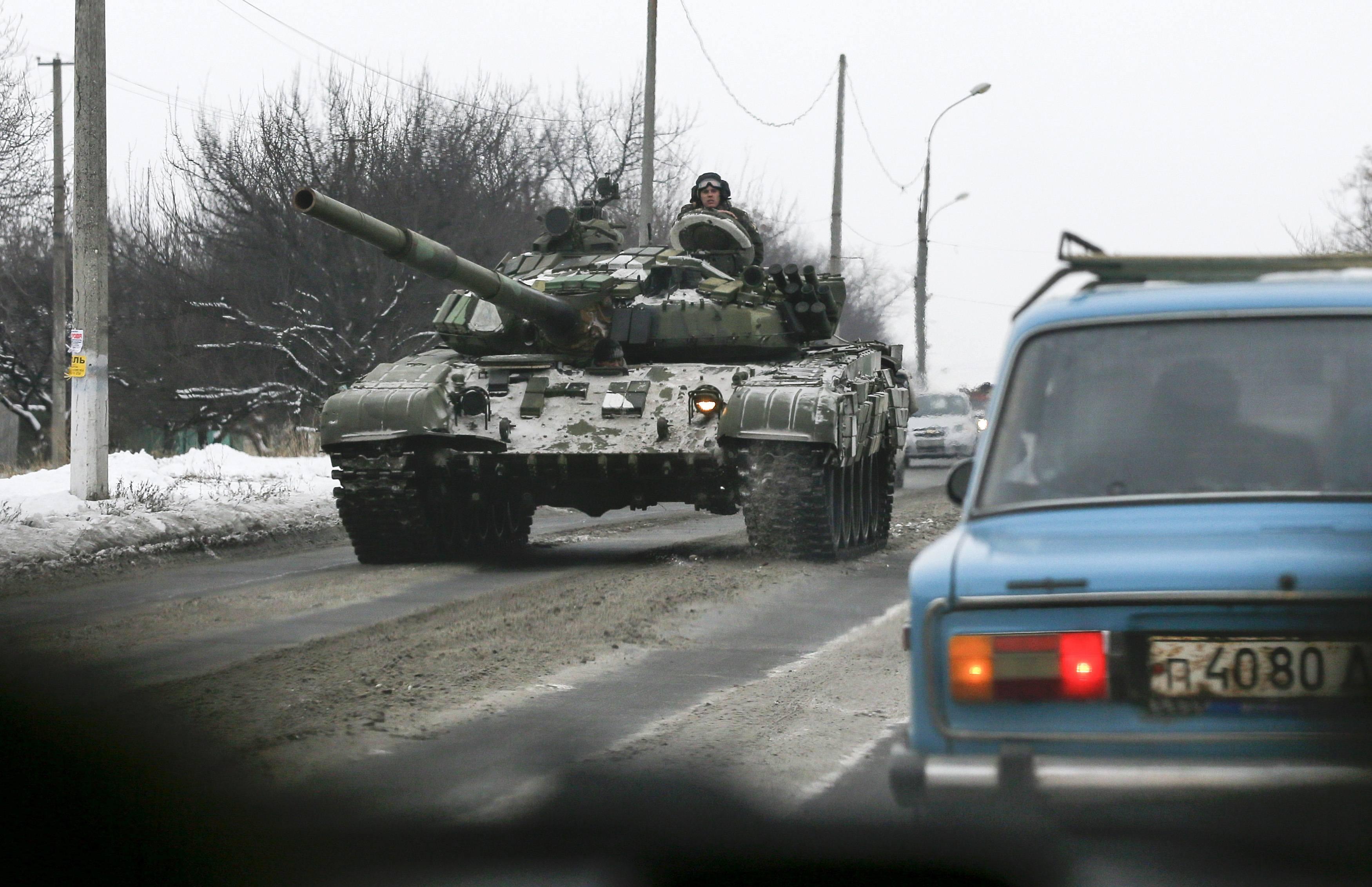 Российский танк на Донбассе, иллюстрация