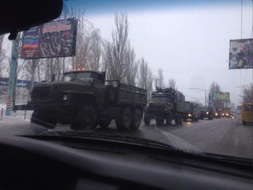 Военная колонна РФ на Донбассе, иллюстрация