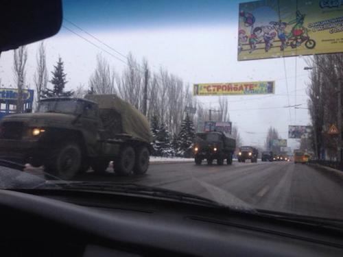 Колонна боевиков на Донбассе, иллюстрация