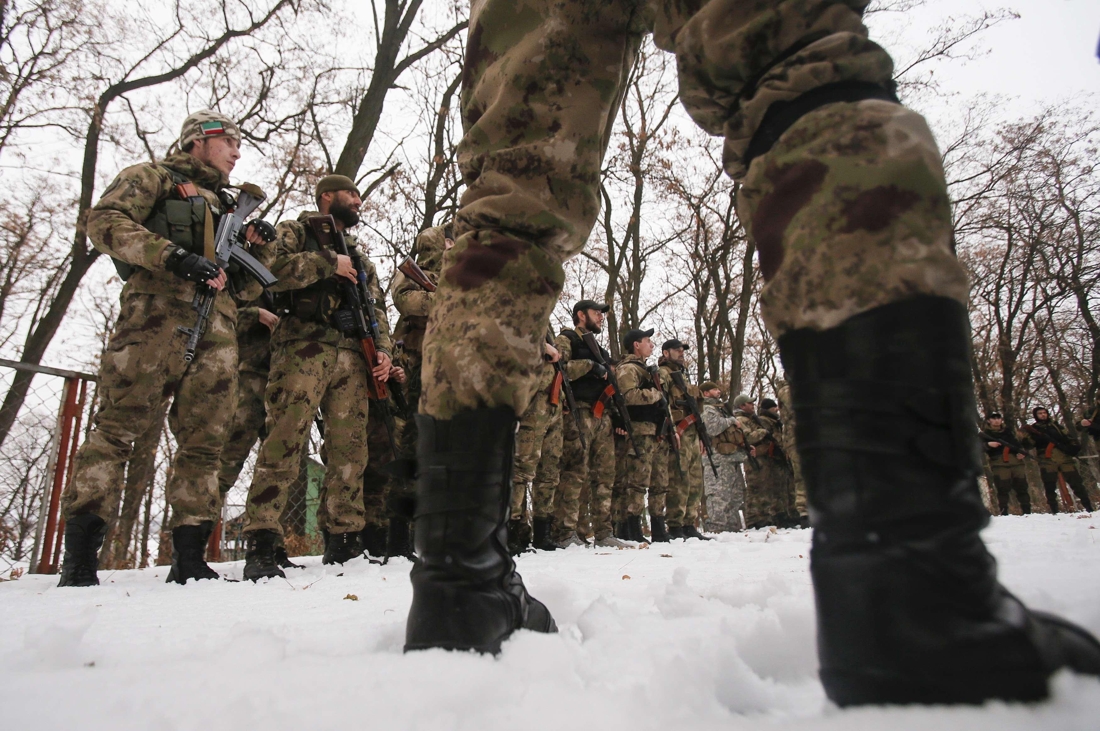 Боевики на Донбассе,иллюстрация