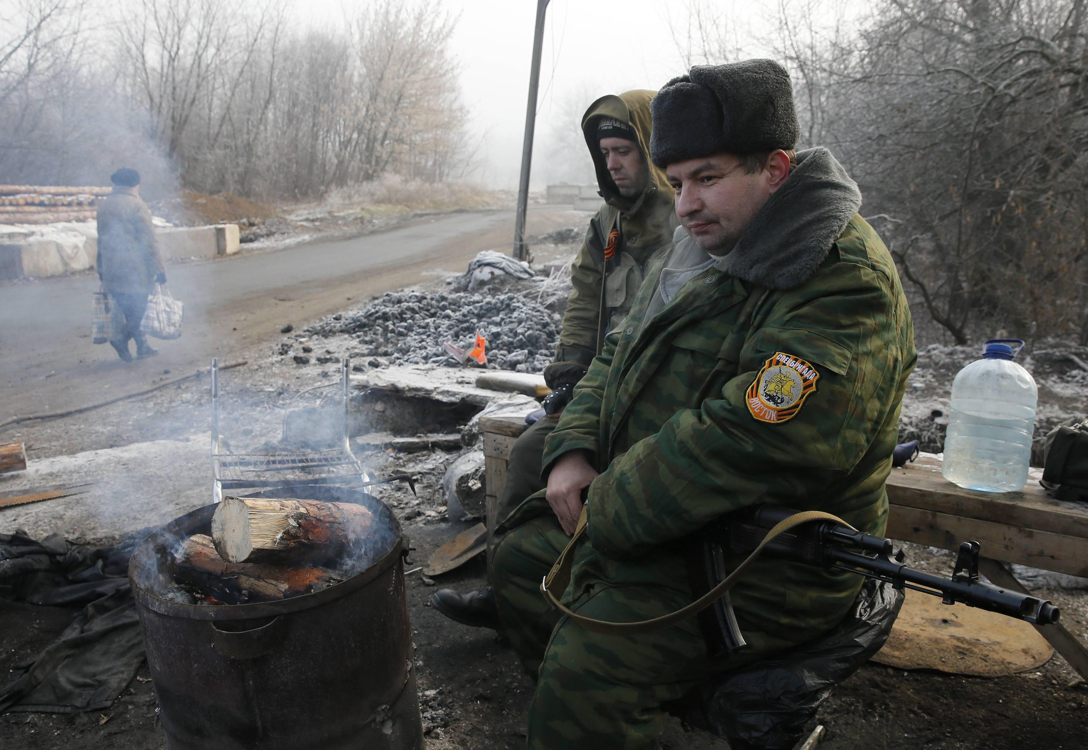 Блокпост боевиков на Донбассе
