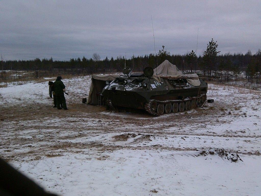 Российские танки на границе Украины, иллюстрация
