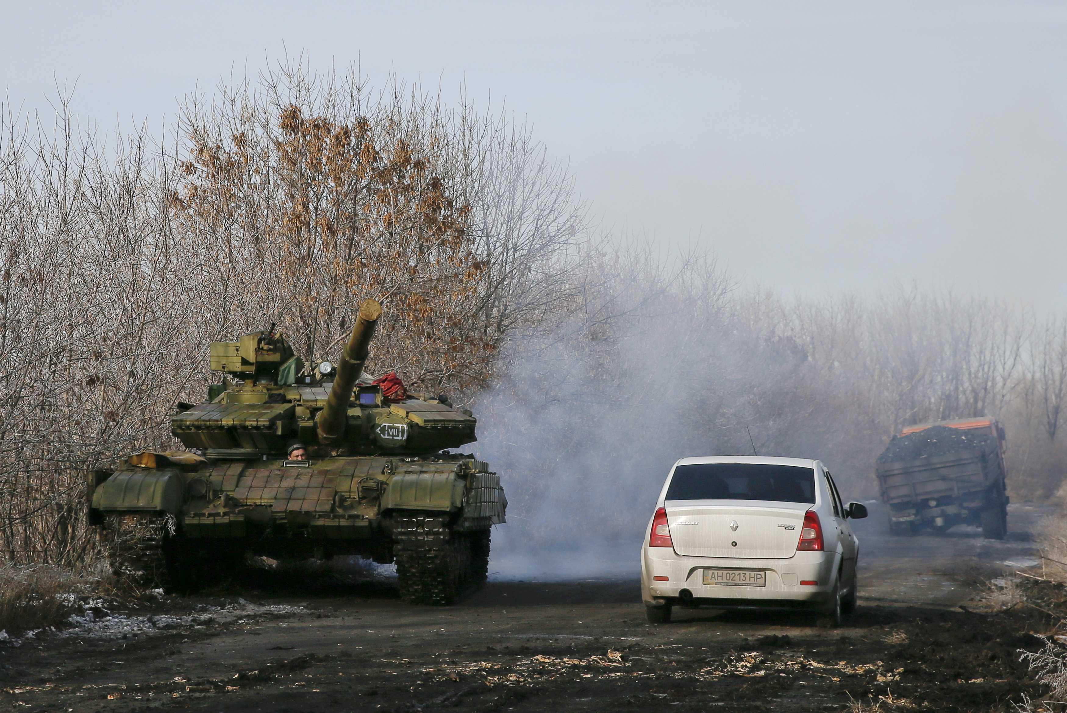 Танк боевиков на Донбассе, иллюстрация