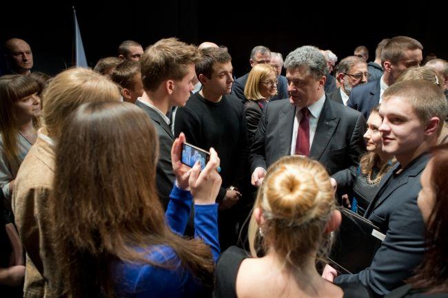 Встреча со студентами в Люблине