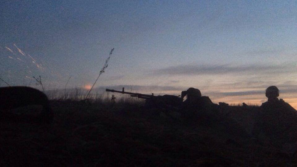 Позиция украинских войск на Донбассе, иллюстрация