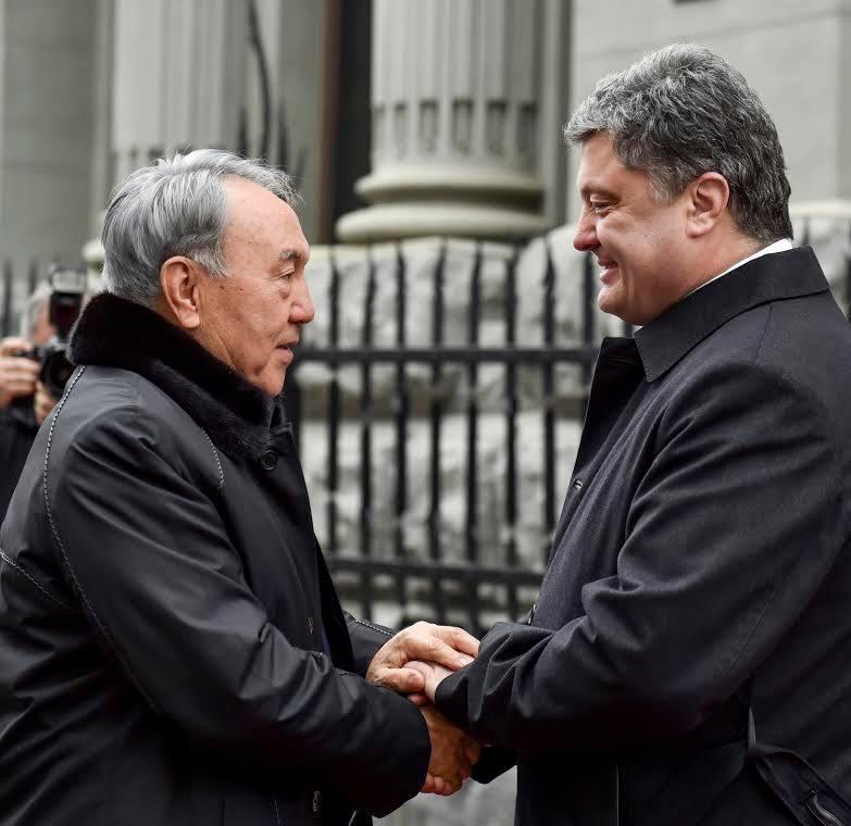 Встреча Нурсултана Назарбаева с Петром Порошенко