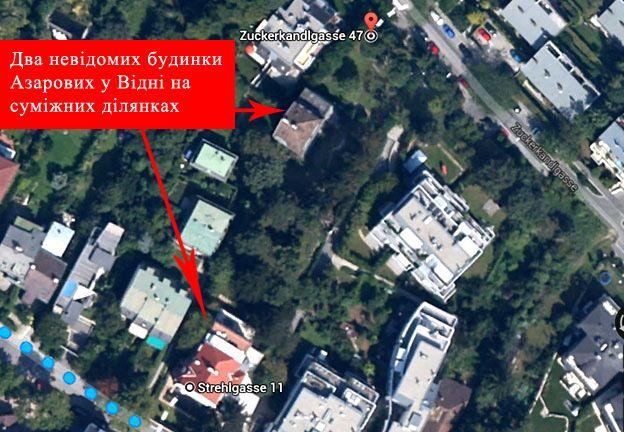 Расположение домов Азаровых