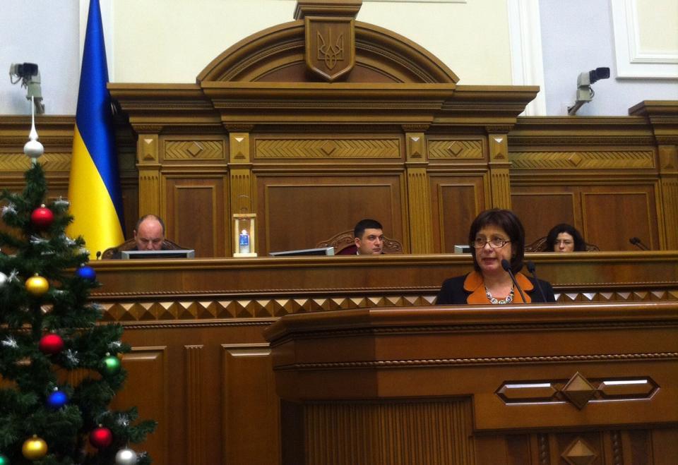 Наталья Яресько в Раде