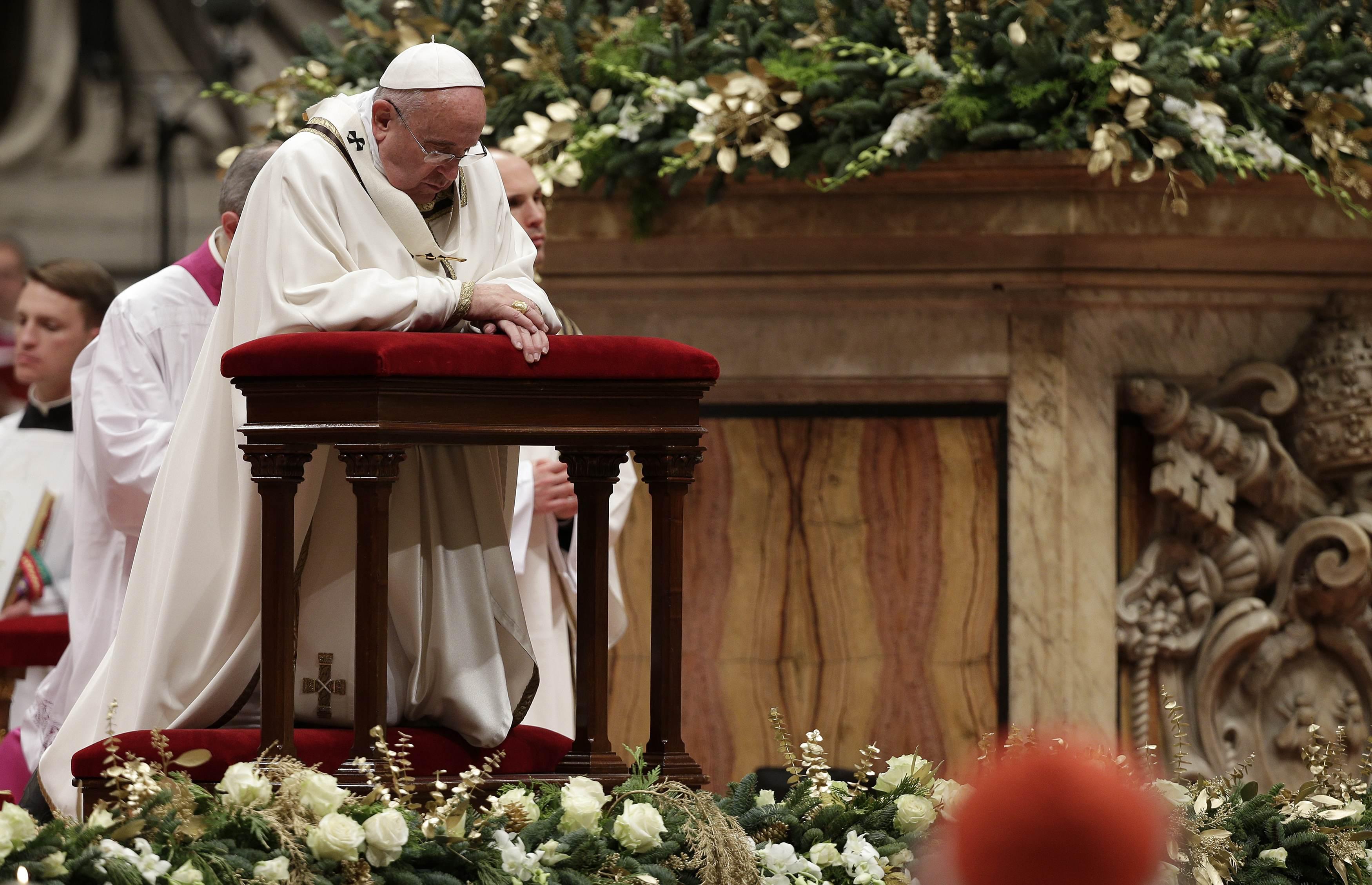 рождественские поздравления папы римского другом варианте