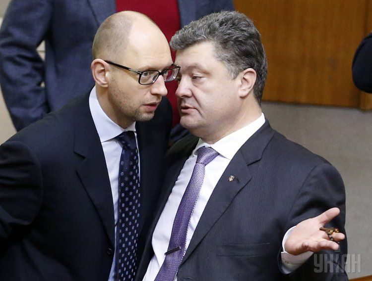 Яценюк и Порошенко - лидеры рейтинга и антирейтина