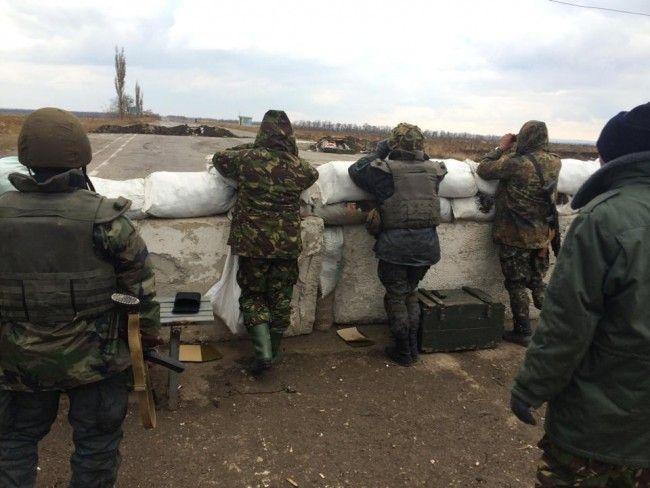 Блокпост сил АТО на Донбассе