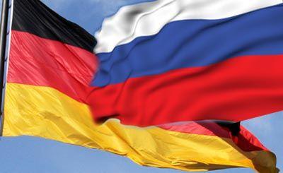 Флаги Германии и России, иллюстрация