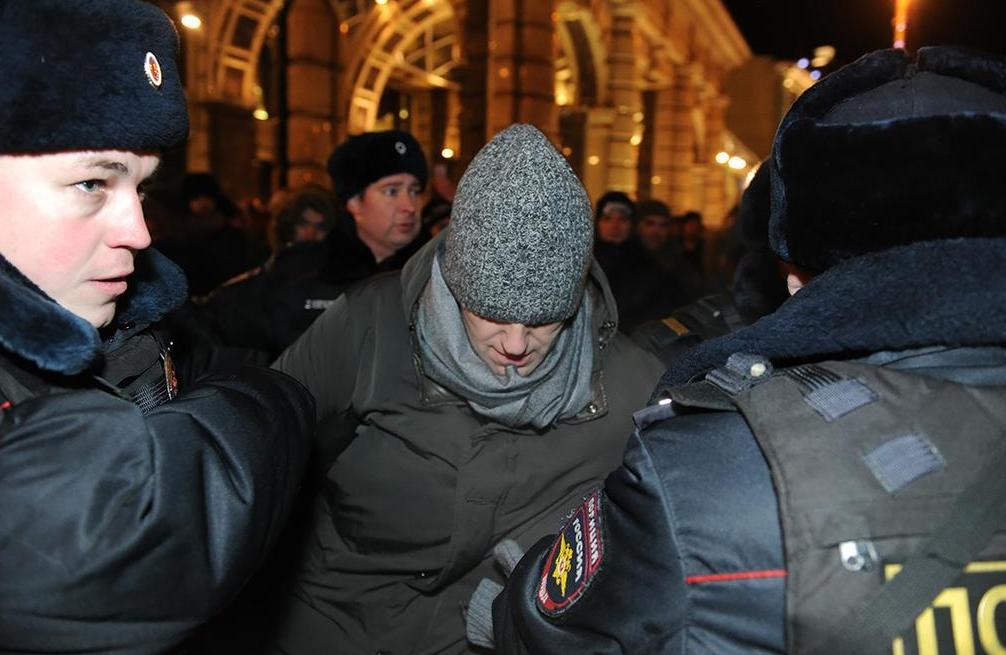 Навального задержали в Москве