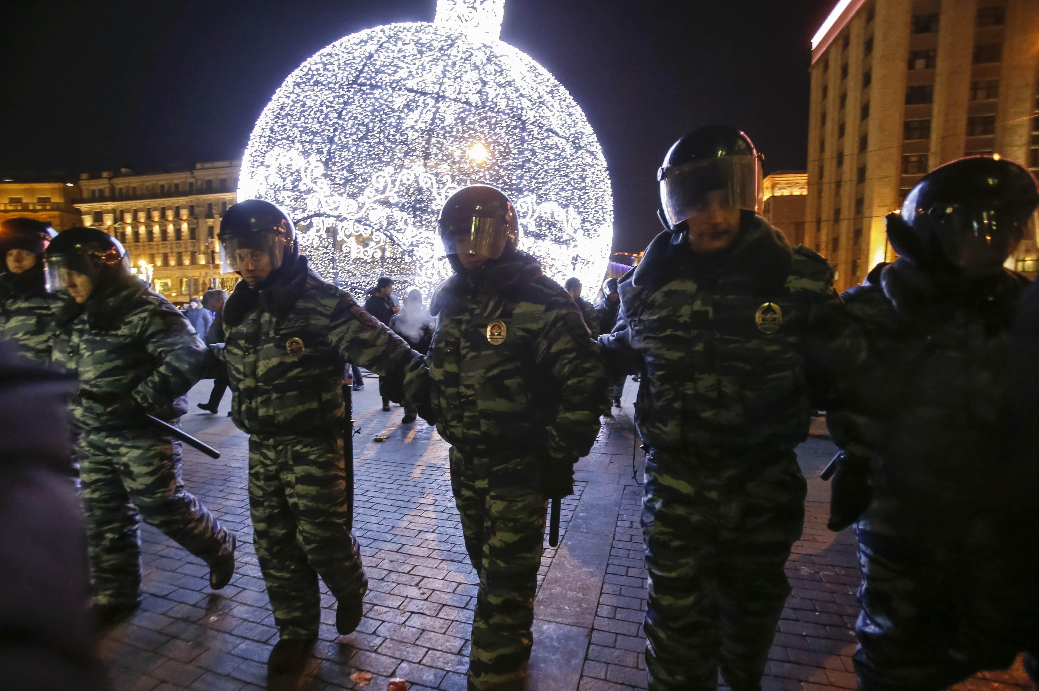 Российские силовики в центре Москвы