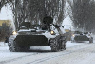 Российская бронетехника в Донецке, иллюстрация