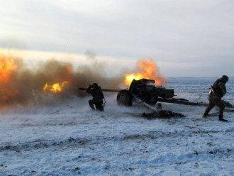 Украинские артиллеристы