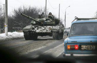 Российские танки в Донецке, иллюстрация
