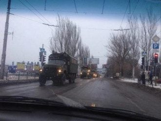Техника в захваченной боевиками Макеевке