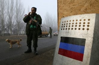 Боевики в Горловке, иллюстрация