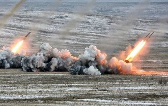 Работа украинской артиллерии, иллюстрация