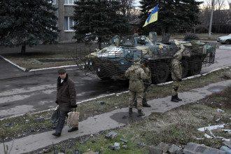 Украинские силовики в Дебальцево, иллюстрация