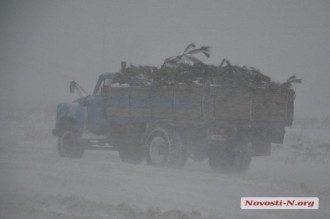 Снегопад на Николавщине, иллюстрация