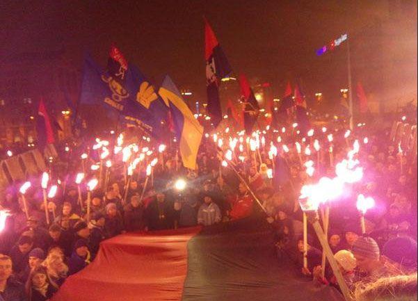 Факельное шествие в Киеве в 2015 году, иллюстрация