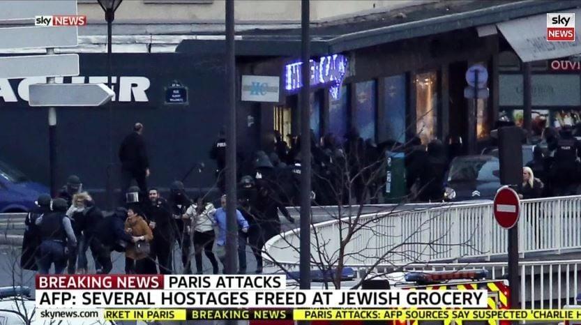 Во Франции освободили заложников, захваченных преступниками