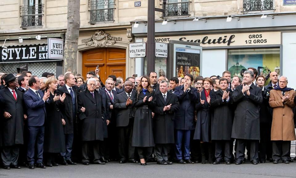 Порошенко в парижском Марше единства