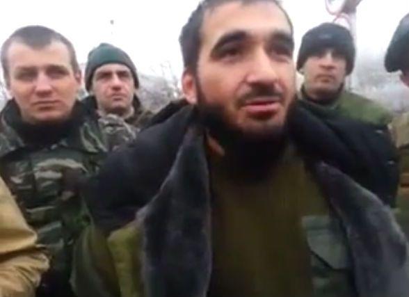 Чеченцы на улицах Донецка, иллюстрация