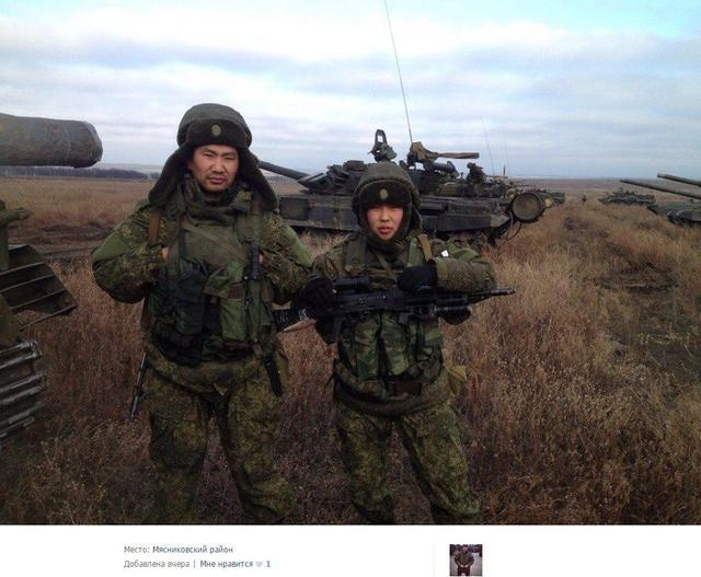 Российские солдаты из Бурятии, иллюстрация