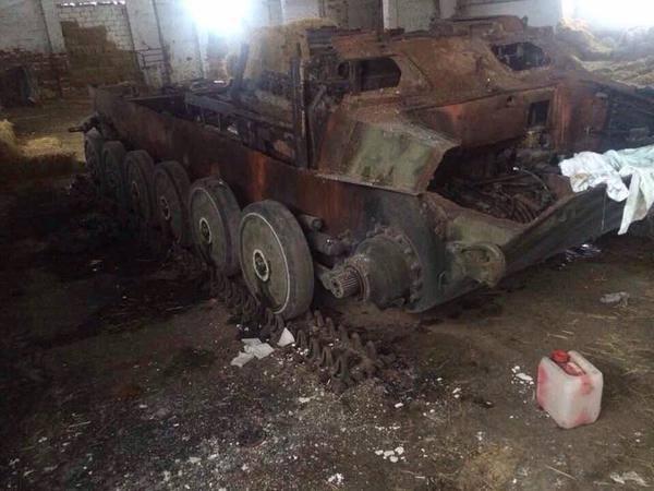 Уничтоженная техника боевиков на Донбассе