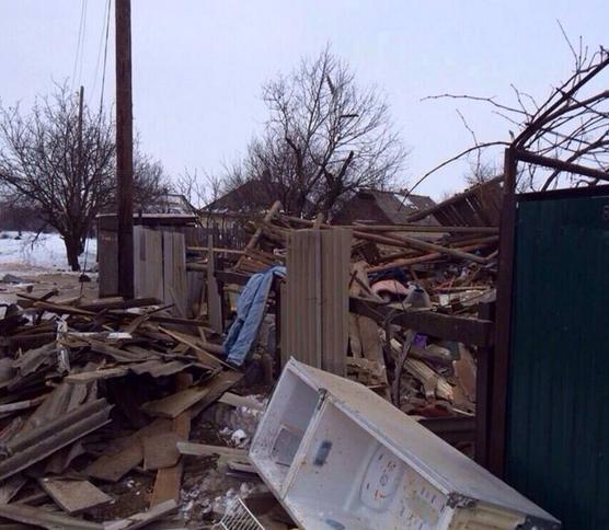 Разрушения Углегорска, иллюстрация