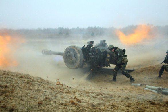 Украинские артиллеристы в зоне АТО, иллюстрация