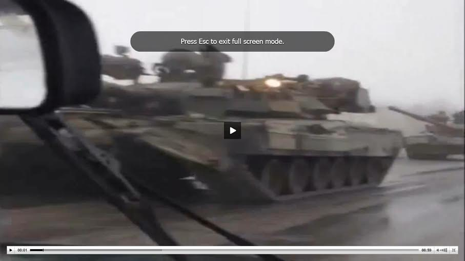 Танк Т-80 в РФ - у границ Украины