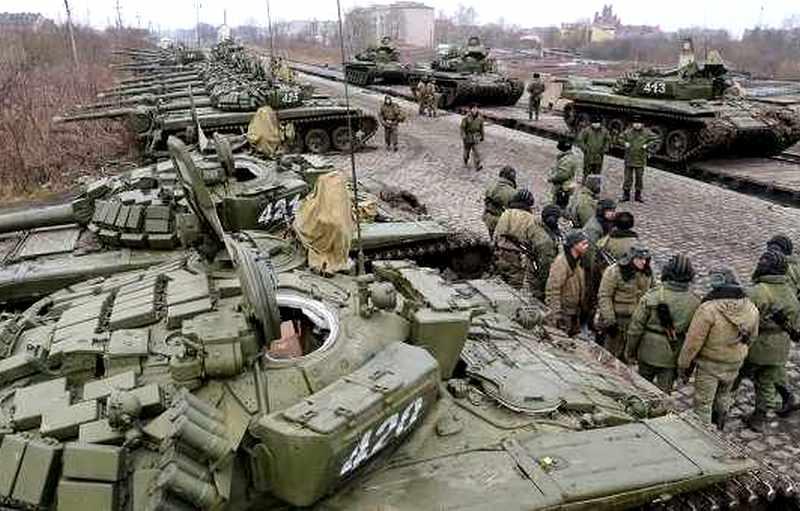 Российские войска на границе Украины, иллюстрация