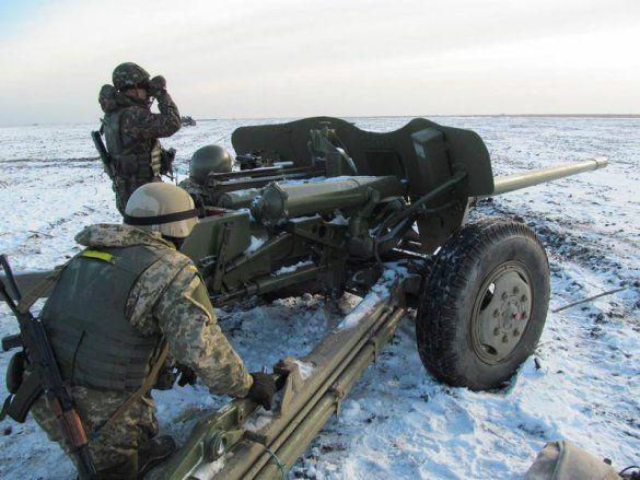 Артиллерия АТО на Донбассе, иллюстрация