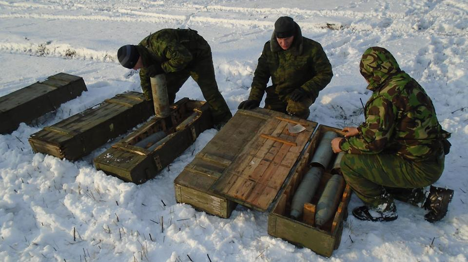 Боевики готовятся к стрельбе на Донбассе