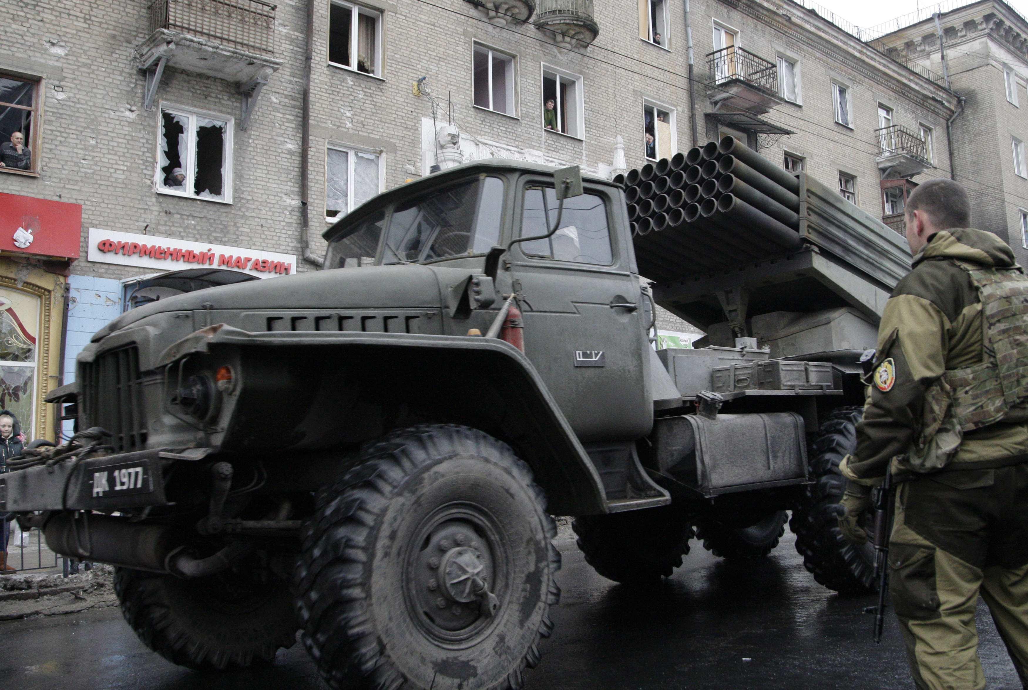 Град боевиков в Донецке