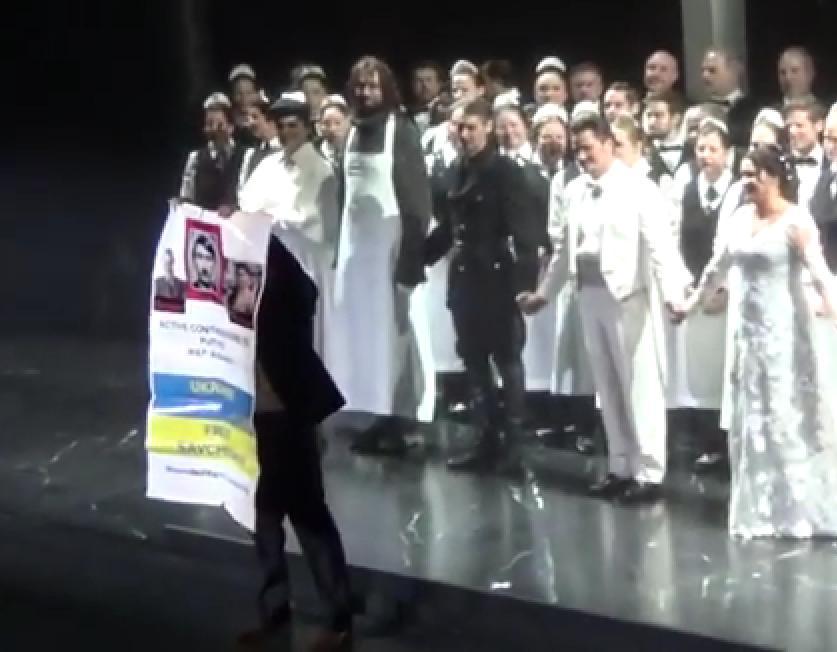 Спектакль с участием Нетребко закончился акцией против Путина