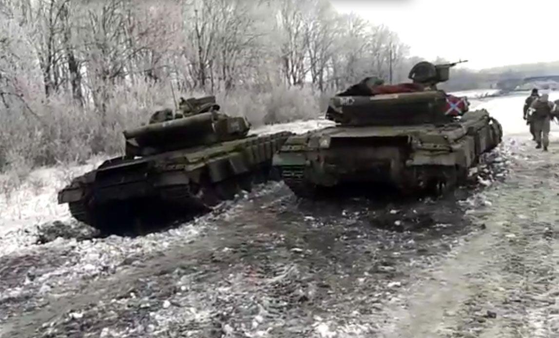 Уничтоженные под Углегорском танки