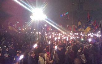 Факельный марш в Киеве