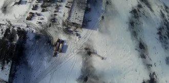 Фото с видео разрушенного аэропорта Донецка, снятое с беспилотника.