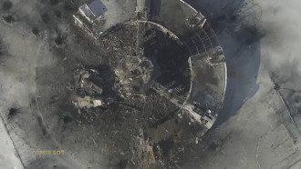 Вид с воздуха на Донецкий аэропорт, 15 января