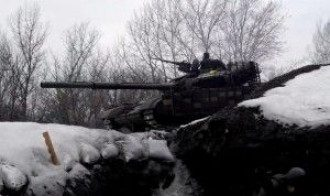Российский танк под Счастьем, иллюстрация